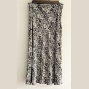 Vintage Snake Print Midi Skirt by Ann Taylor